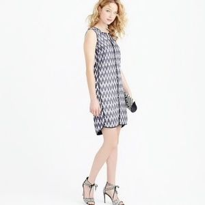 J. CREW | 0 | SHIFT DRESS | BLUE & WHITE